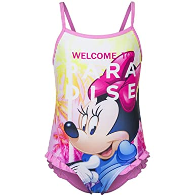 3f680363f358b Disney Childrens/Kids Minnie Mouse Swimming Costume Girls Swimsuit Pink Age  6 Years: Amazon.co.uk: Clothing