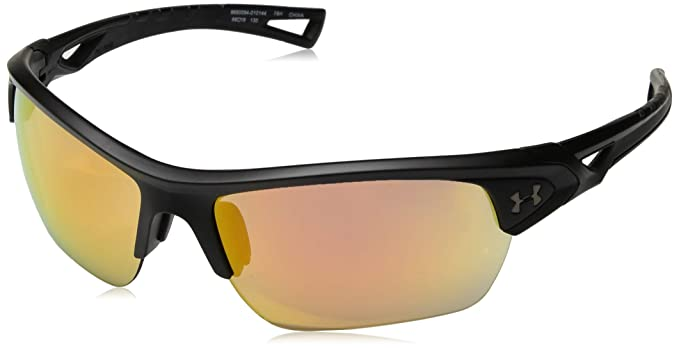 749cc7c344 Amazon.com  Under Armour Ua Octane Wrap Sunglasses Black 68 mm  Clothing