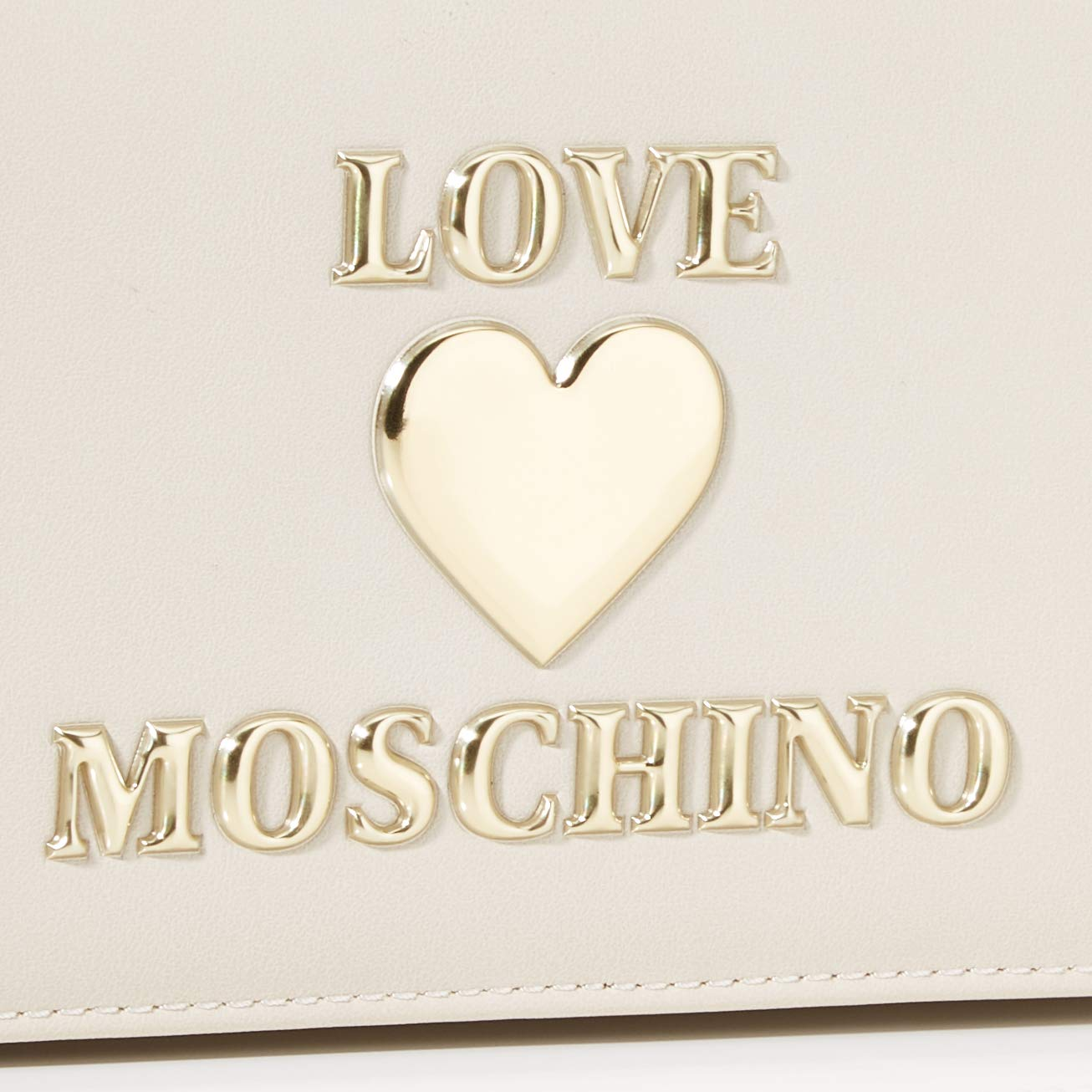 Love Moschino dam Borsa Pu mode, röd, normal elfenben