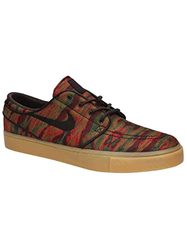 a23ac4745e10 Nike Men s SB Zoom Stefan Janoski Canvas Premium Skateboarding Shoes  (Multi-Color Velvet