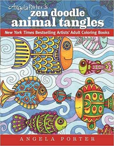 Book Angela Porter's Zen Doodle Animal Tangles: New York Times Bestselling Artists' Adult Coloring Books by Angela Porter (2016-06-28)