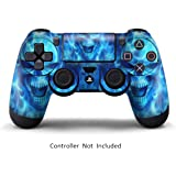 GameXcel ® Sony PS4 Controller della Pelle - Playstation 4 Joystick Decalcomania - Custom Playstation 4 Remoto del Vinile - Blue Deamon [Controller non incluso]