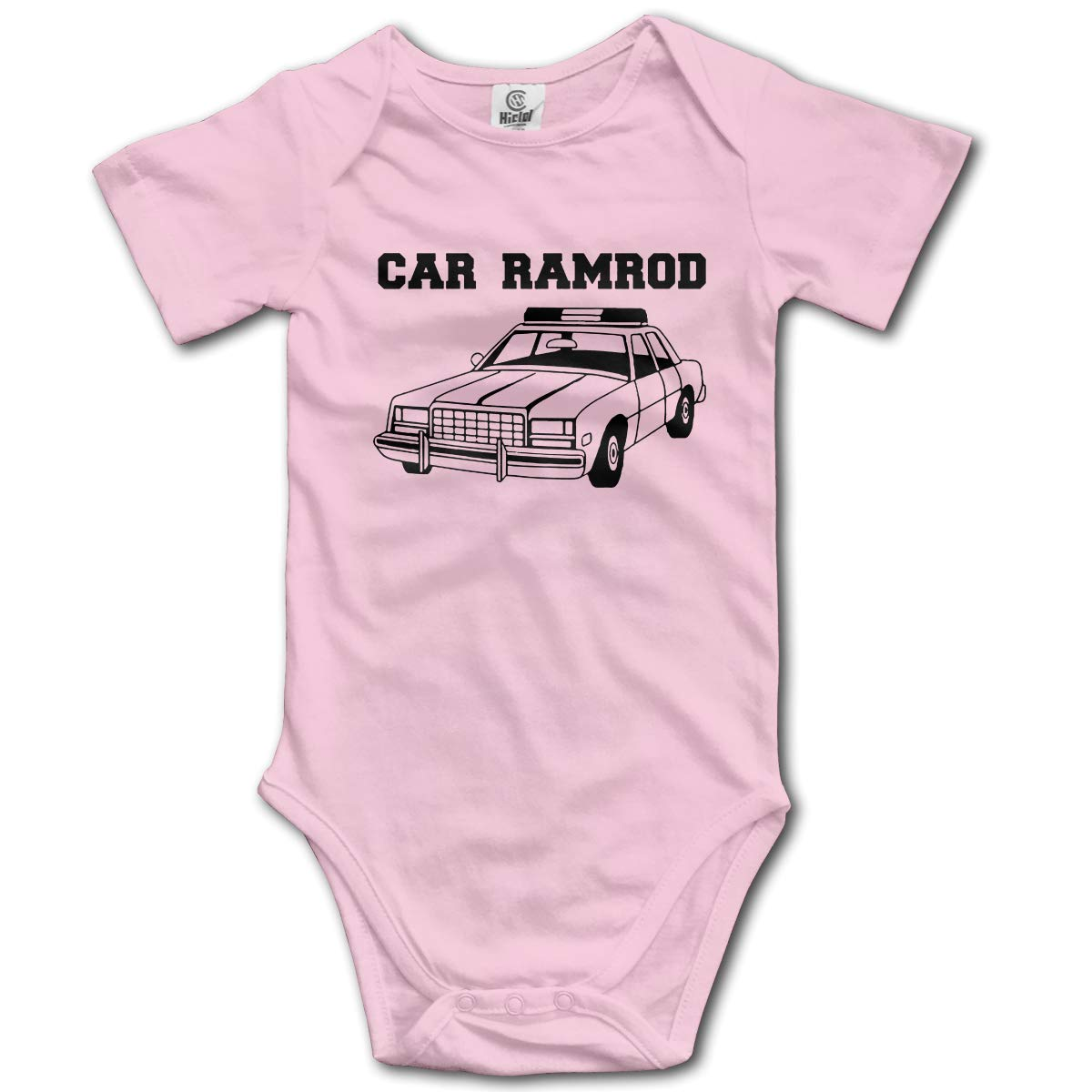 CHETI CAR Ramrod Newborn Infant Toddler Baby Girls Boys Bodysuit Short Sleeve 0-24 MonthsGray