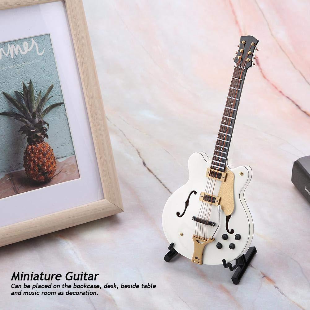 Hztyyier Instrumento Adorno Miniatura Guitarra Adorno R/éplica Modelo Musical con Estuche de Regalo para Regalos de cumplea/ños de Navidad
