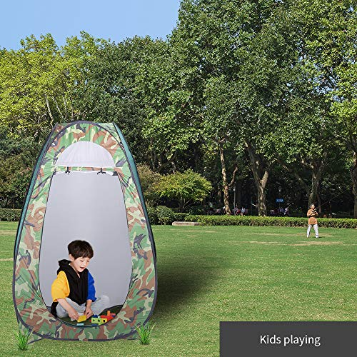 Thinvik Pop Up Changing Room Privacy Tent-Instant Portable Outdoor Shower Tent, Camp Toilet, Rain Shelter for Camping & Beach-Lightweight & Sturdy, Easy Set Up, Foldable – with Carry Bag