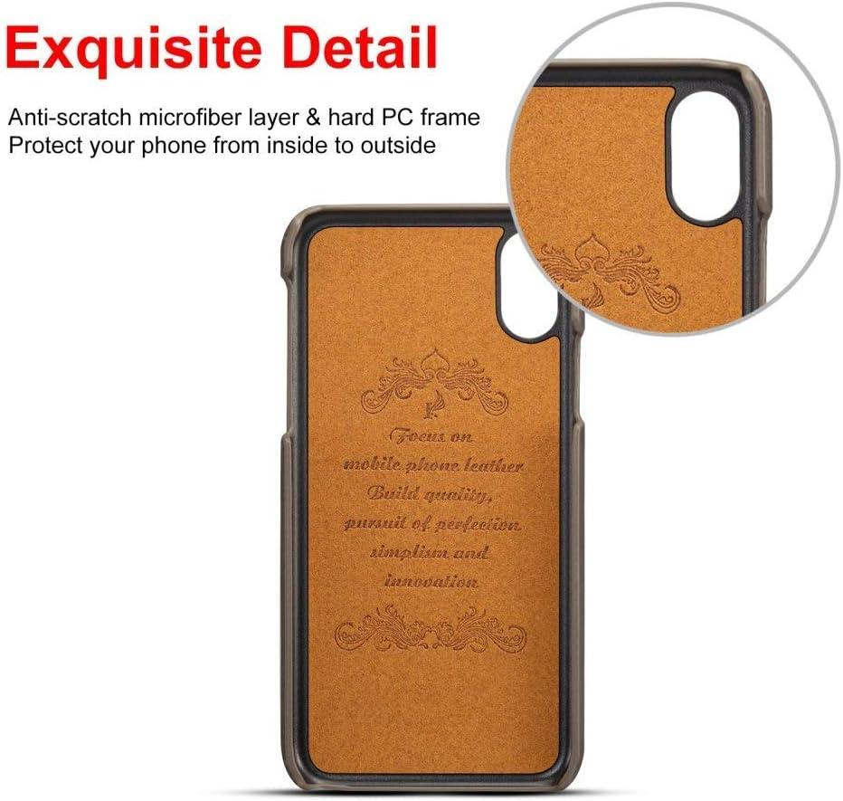 Pelle Custodia iPhone XR con Titolare delle Carte Airart Vintage