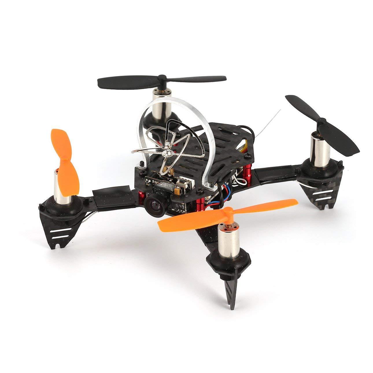 Ballylelly RC Drone with CameraRadiolink F110S Micro Racing Drone Quadcopter con Ricevitore R8FM Fibra di Carbonio 200mW 40CH FPV Camera BNF ad Alta velocità