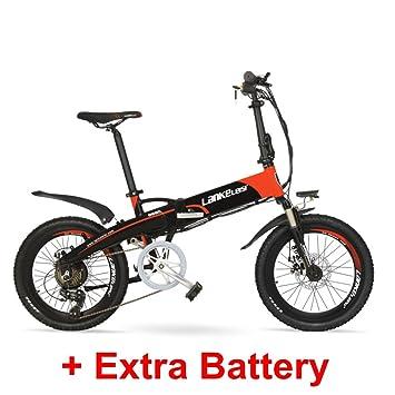 """LANKELEISI G660 48V 10Ah Hidden Battery 20"""" Bicicleta de montaña eléctrica Plegable, 240W Motor"""