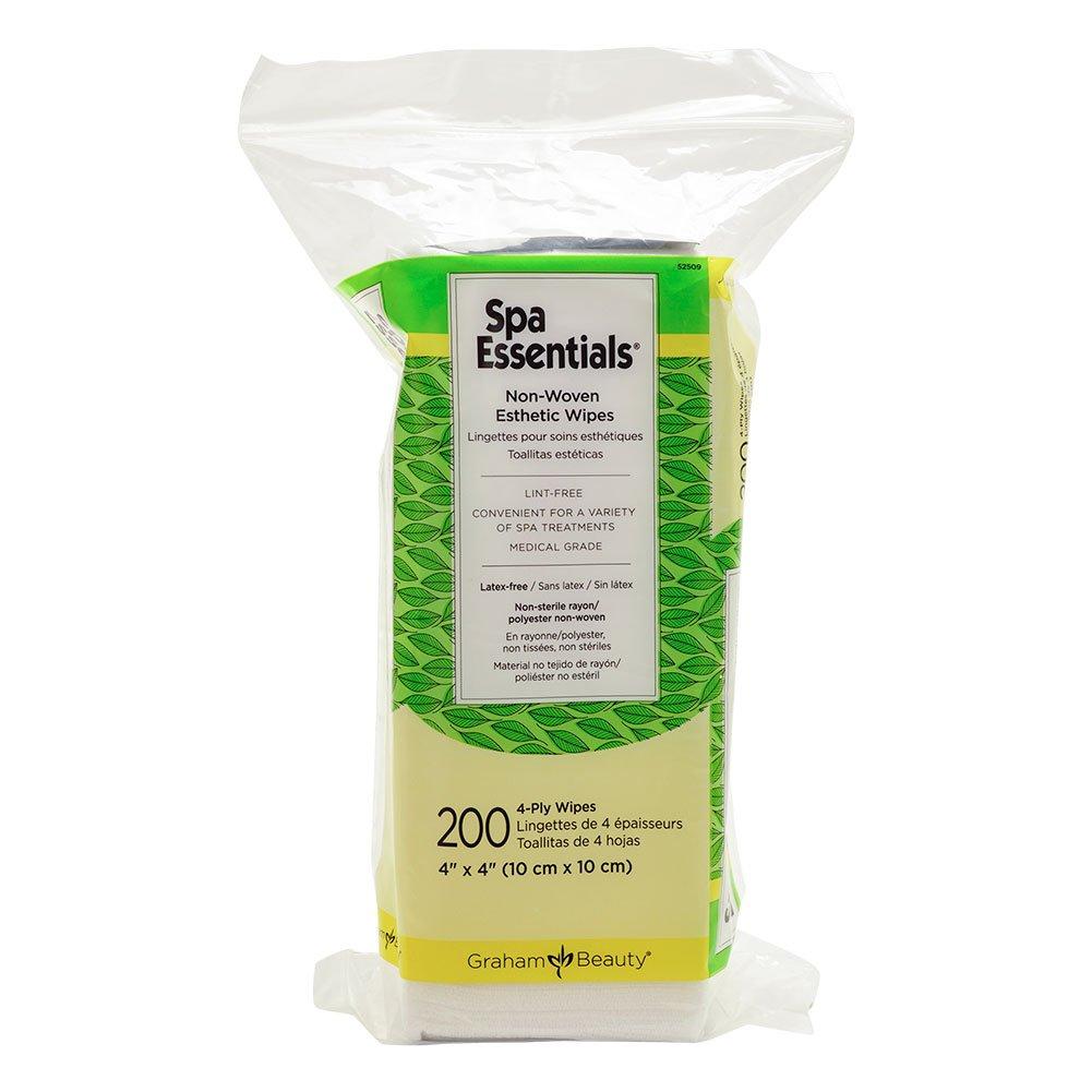Graham Professional Spa Essential Nonwoven Esthetic Wipes 200/Pack, 52509
