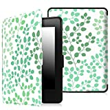 Fintie SmartShell Case for Kindle Paperwhite - The Thinnest and Lightest PU Leather Cover Auto Sleep/Wake for All-New Amazon Kindle Paperwhite (Fits All 2012, 2013, 2015 and 2016 Versions), LeafBreeze