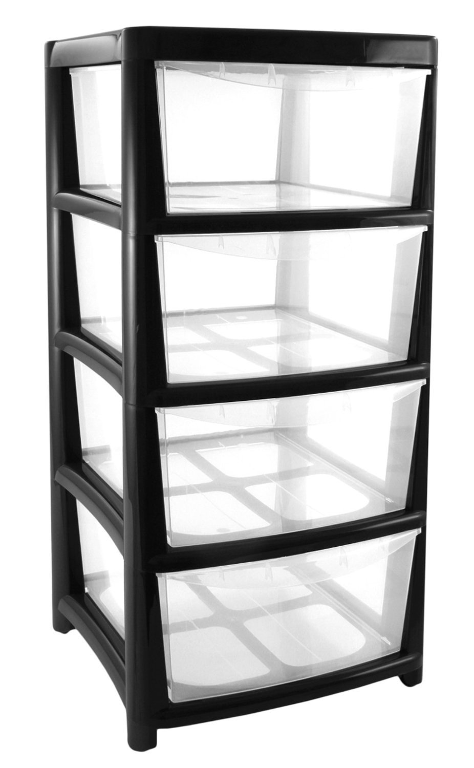 Drawer Large Plastic Storage Unit Black Office Or Home Amazon Co Uk Kitchen Home