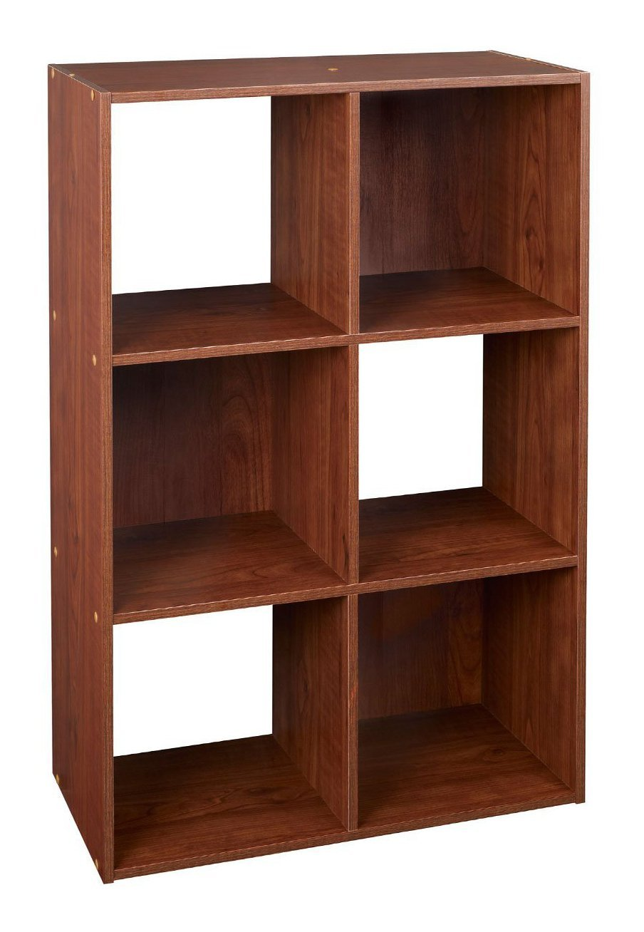 amazon com closetmaid 4104 cubeicals organizer 6 cube dark cherry rh amazon com Cherry Corner Shelf dark cherry bookshelves