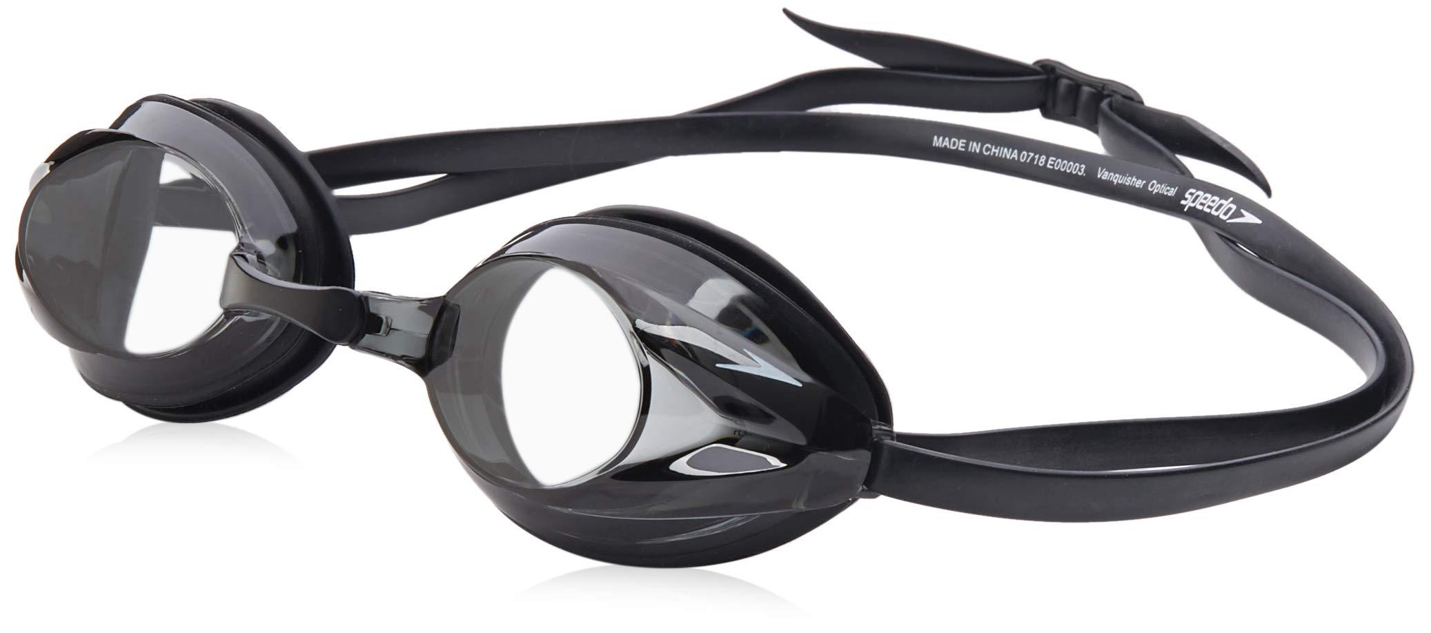Speedo Vanquisher Optical Swim Goggle, Grey, -1.5