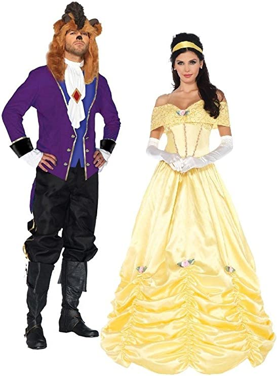 Beauty and The Beast Costume X-Large Couple Kit
