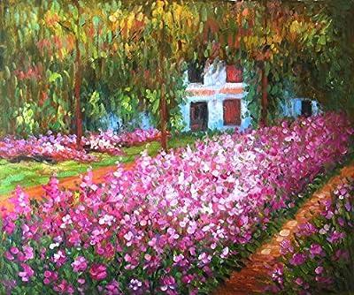 Irises In Monet's Garden By Claude Monet ,Large Modern Artwork For Home Bedroom Living Room Decoration
