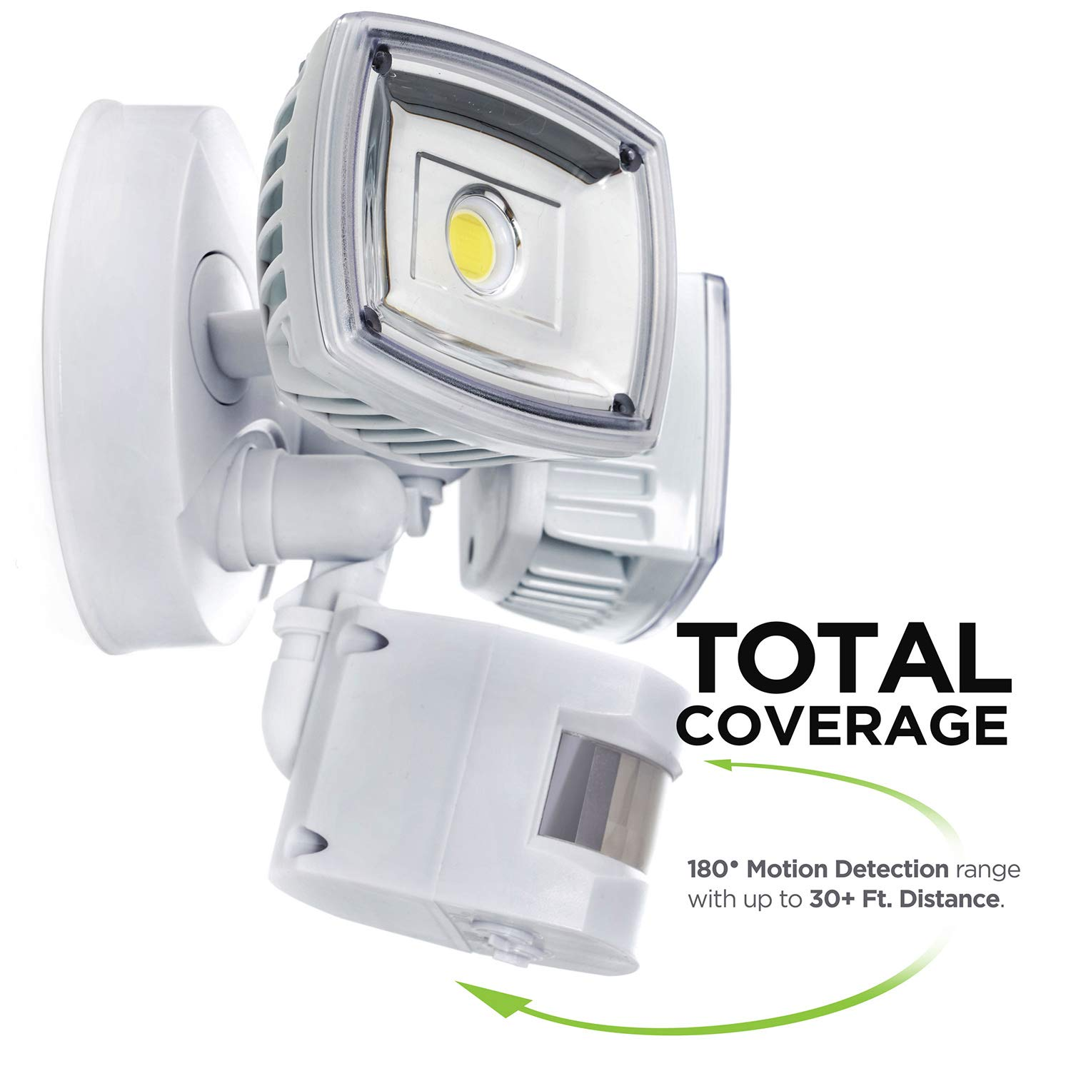 Home Zone ES00730U Security LED Motion Sensor Flood Lights, Outdoor Weatherproof Ultra Bright 5000K, White by Home Zone (Image #2)