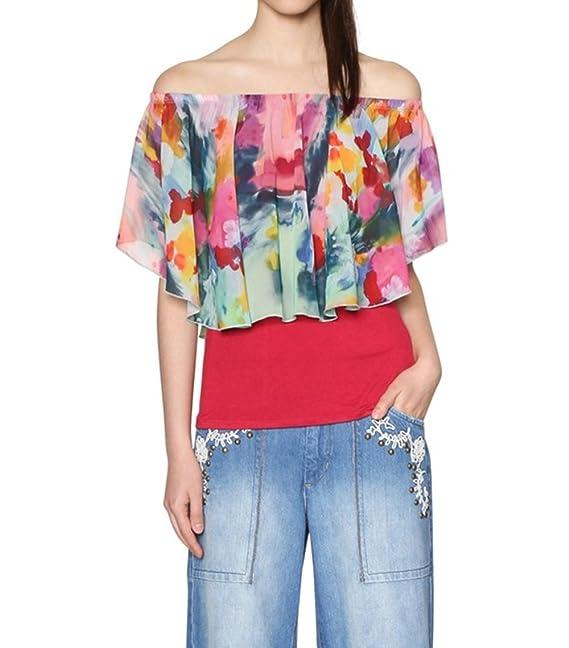 Desigual Camisas - Para Mujer Fucsia X-Small: Amazon.es: Ropa y accesorios