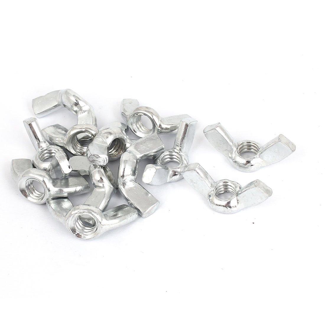 10 Pcs Carbon Steel Zinc Plated Hand Twist Tighten Ear Butterfly Nut uxcell 1//2-12 Wing Nuts