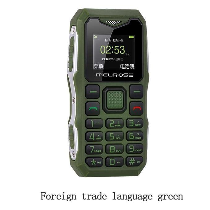 e35bc45e06 S10 Long Standby Big Voice Flashlight FM Mini Small Size Pocket Rugged  Mobile Phone (Green)
