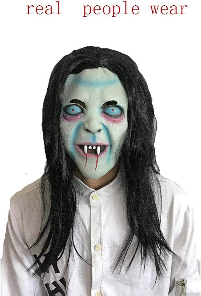 Story of life Halloween Cabello Largo Horror Máscara De Bruja ...