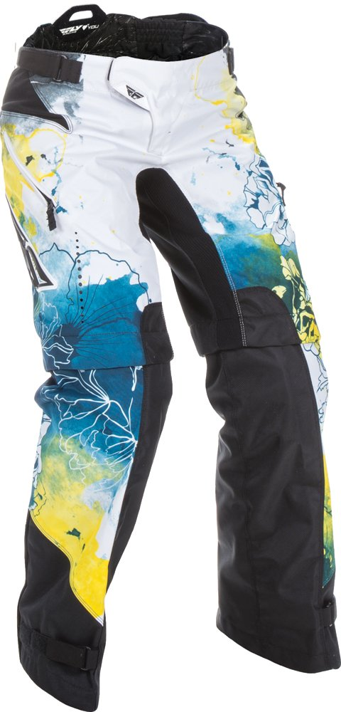 Fly Racing Unisex-Adult Kinetic Women's Over Boots Pants Teal/Yellow Size 26