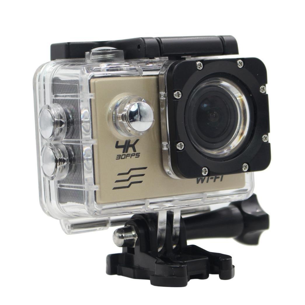 [WiFi Kamera] 4 K HD 5,1 cm LCD + Sony COMS Sensor 170 ° Ultra-Weitwinkel Objektiv 4 K Ultra HD WiFi 30 m Wasserdicht Sports Kamera