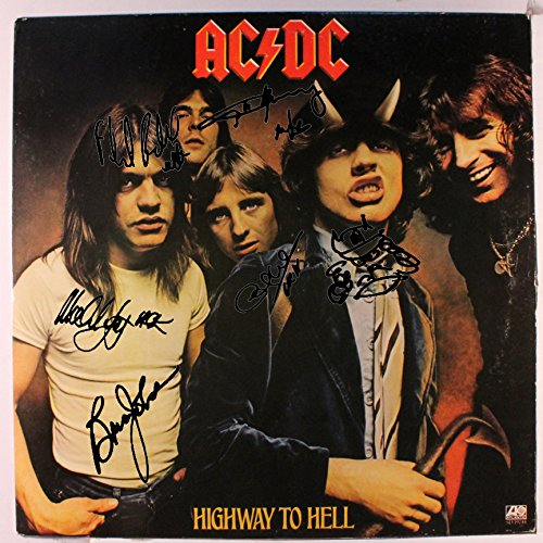 AC/DC Autographed Signed Highway To Hell Record Album Cover LP Autographed Signed Facsimile