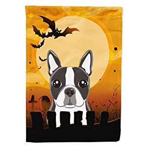 Caroline's Treasures BB1761GF Halloween Boston Terrier Garden Size Flag, Small, Multicolor