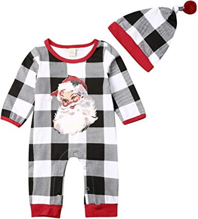 Newborn Infant Baby Boy Xmas Kinitted Bodysuit Romper Jumpsuit Clothes Outfit US