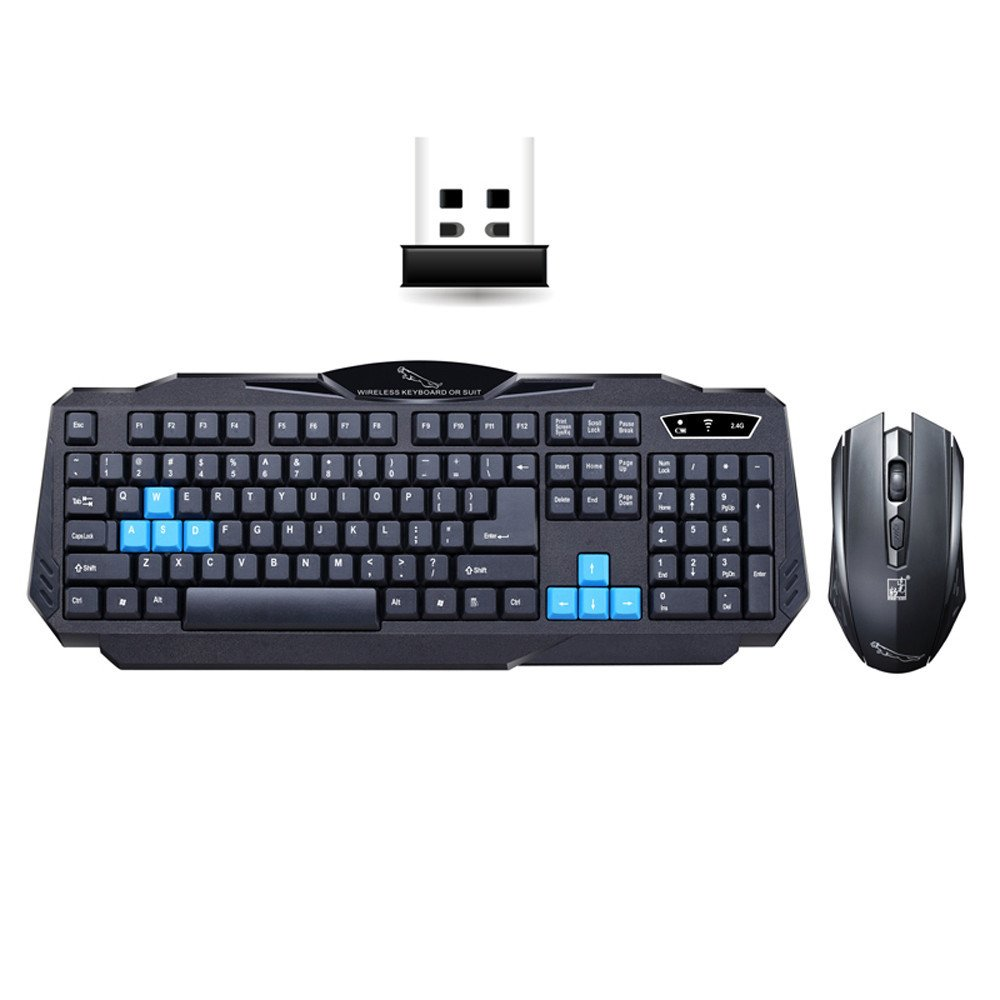 Mitsutomi,keyboard and Mouse Set Gaming wireless USB 2.4G to computer Multimedia Gamer