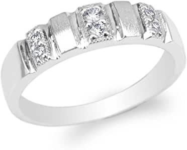 Amazon.com: JamesJenny Womens 925 Sterling Silver Round CZ
