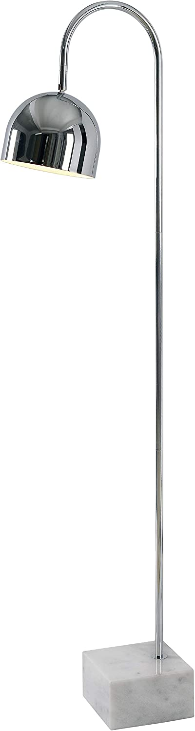 Kenroy Home Classic Floor Lamp ,55 Inch Height, 13 Inch Width, 7 Inch Ext. with Chrome Finish with White Marble Base