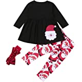 HEETEY Tutu Dress Baby Girls,Kids Baby Girl Princess Plaid Bow Dress Tops+Tutu Tulle Skirts 2pcs Clothes Set Winter Tops for Girls 1-5 Year Old