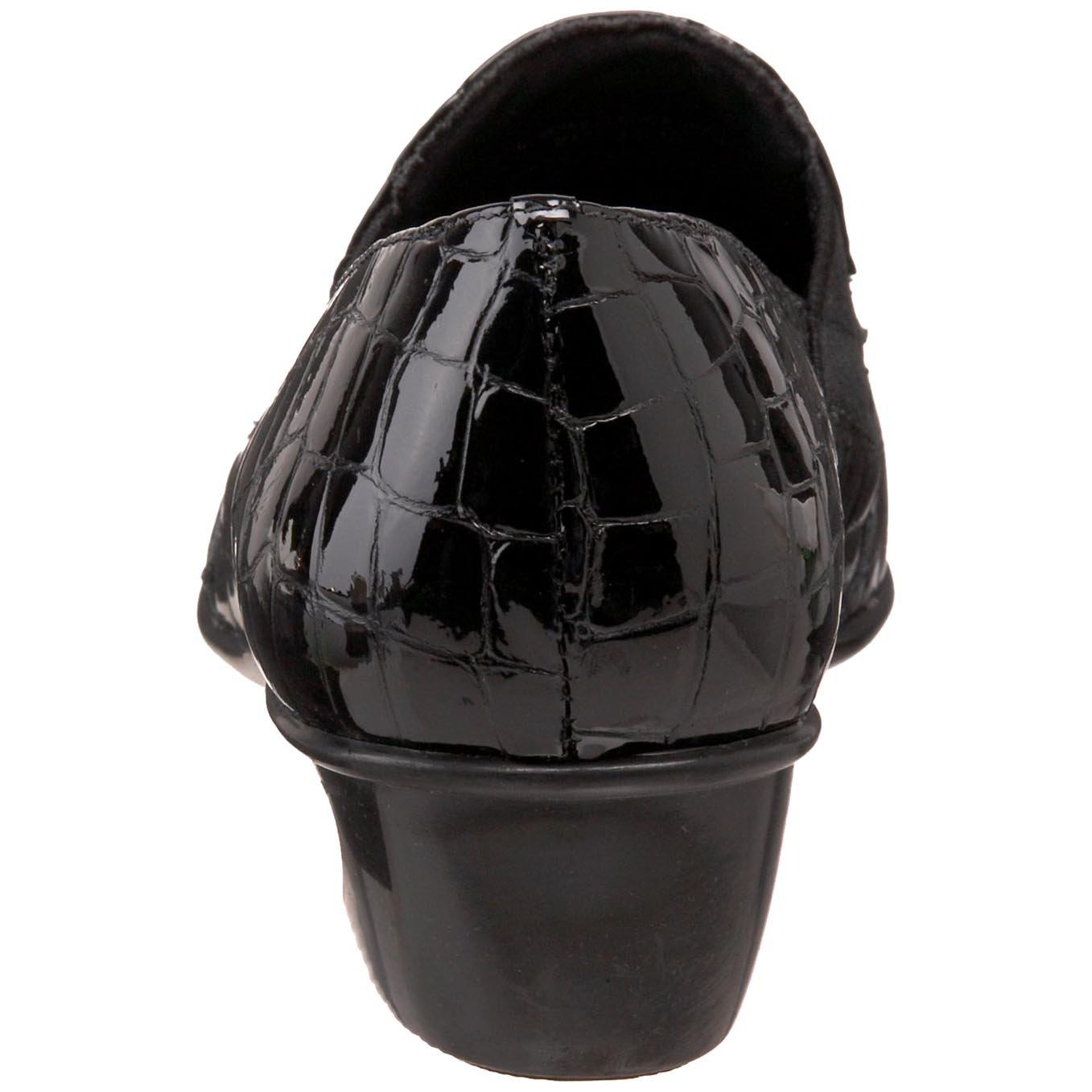 Walking Cradles Women's Teri Flat B00429GY7S 9.5 XW US|Black Croc Patent