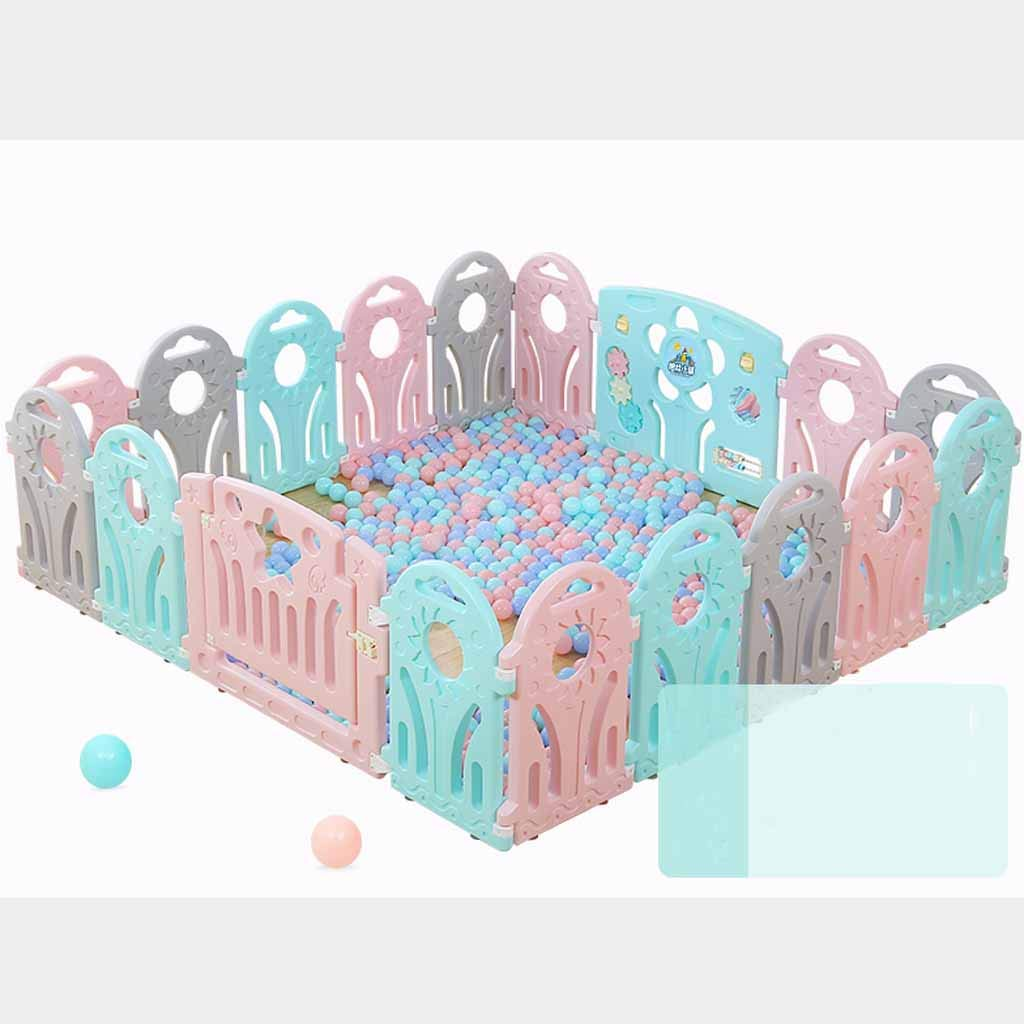 JSSFQK 緑の町の子供の遊びのフェンス屋内の赤ちゃんの幼児の安全フェンスの赤ちゃんのホームクロールマットのフェンス 保護フェンス (サイズ さいず : 192cm×192cm) 192cm×192cm  B07MMLXVM7