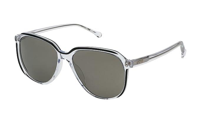 Loewe SLW962M56888X Gafas de sol, Top Black/Crystal, 56 para ...