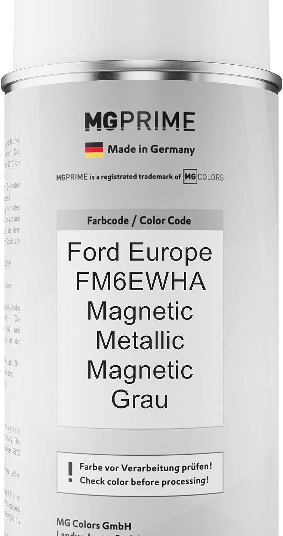 Mg Prime Autolack Sprühdosen Set Für Ford Europe Fm6ewha Magnetic Metallic Magnetic Grau Basislack Klarlack Spraydose 400ml Auto
