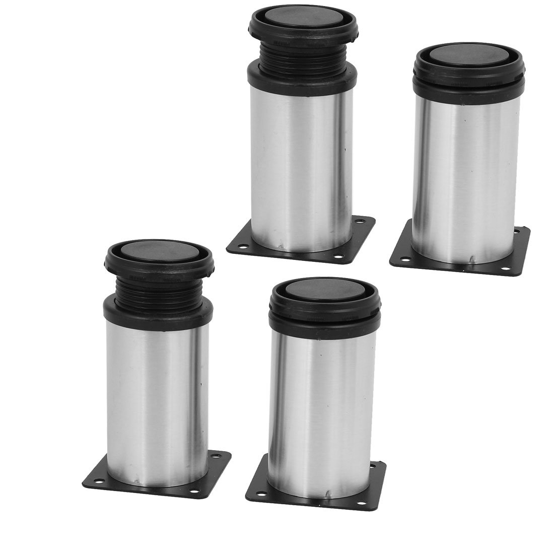 uxcell 50mm x 100mm Metal Adjustable Furniture Cabinet Feet Leg Round Stand 4PCS