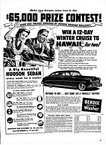 Review 1948 Bendix Washer -Contest