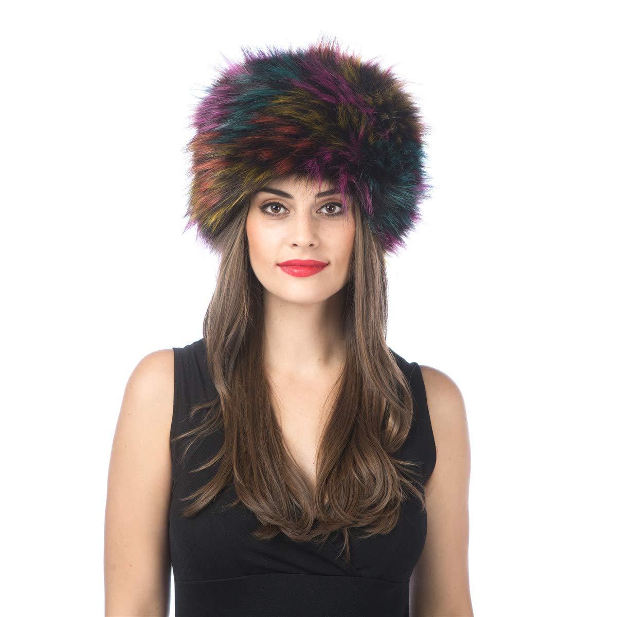 H1colorful Lucky Leaf Women Men Winter Thick Fur Russian Hat Warm Soft Earmuff