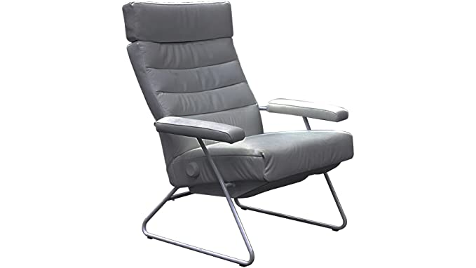Amazon.com: Silla Reclinable de Adele Gris piel por Lafer ...