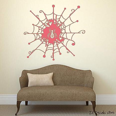 Tela de araña Tatuajes de pared Telaraña Habitación Arte Mural ...
