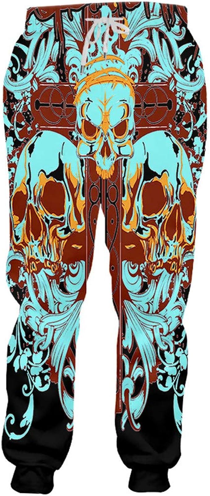 Pantalones de chándal de Hombre de Calavera Cruzada Impresos ...