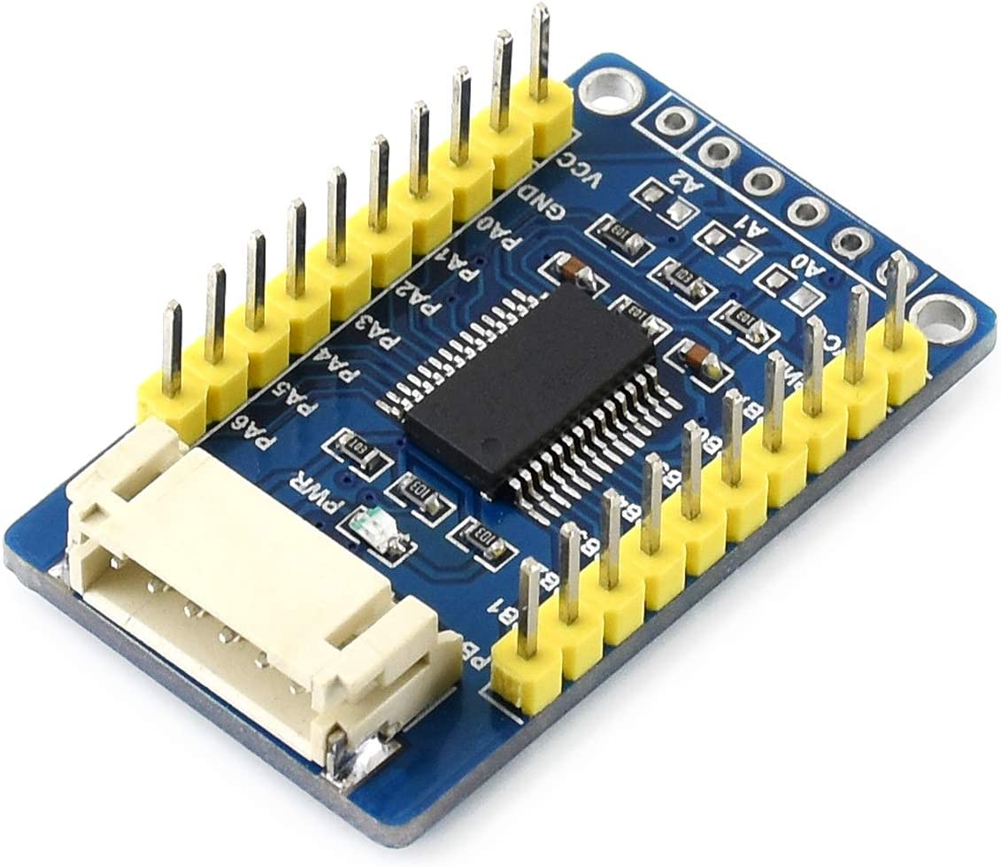Waveshare MCP23017 IO Expansion Board I2C Interface Expands 2 Signal Pins as 16 I//O Pins Compatible with 3.3V and 5V Levels