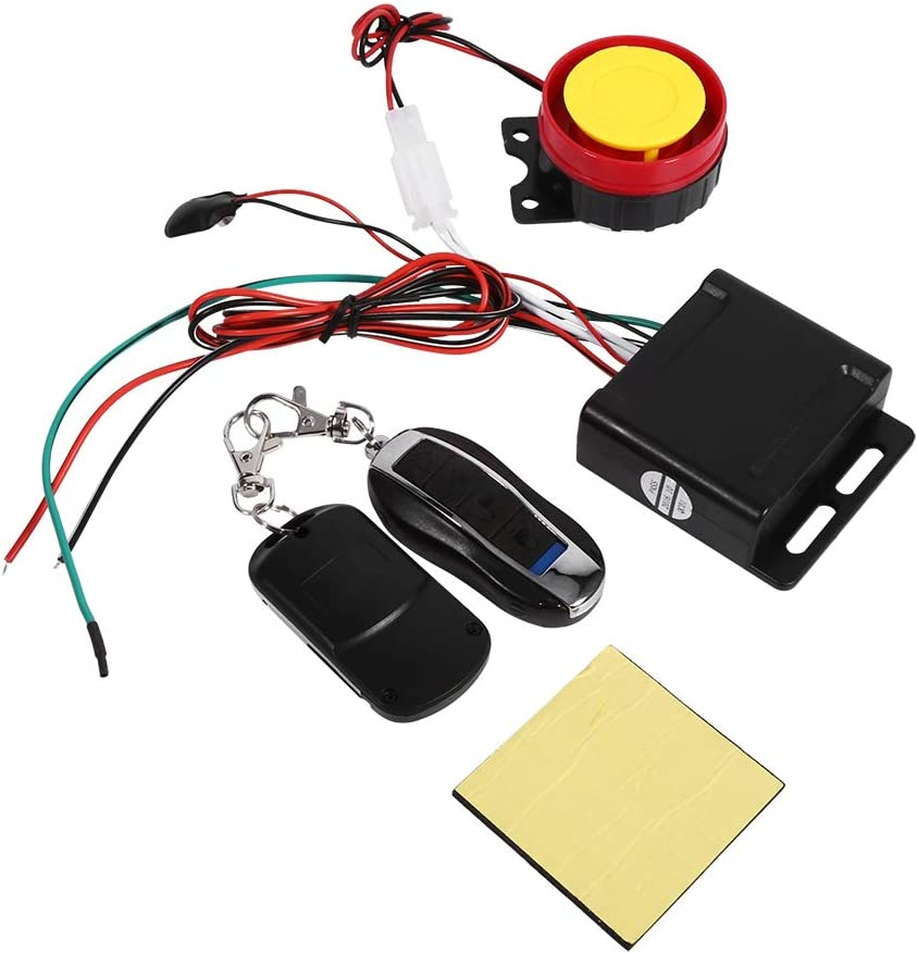 Motorcycle Bike Anti-Theft Alarm System 12V Universal Anti-Theft Security Alarm with Double Remote Control