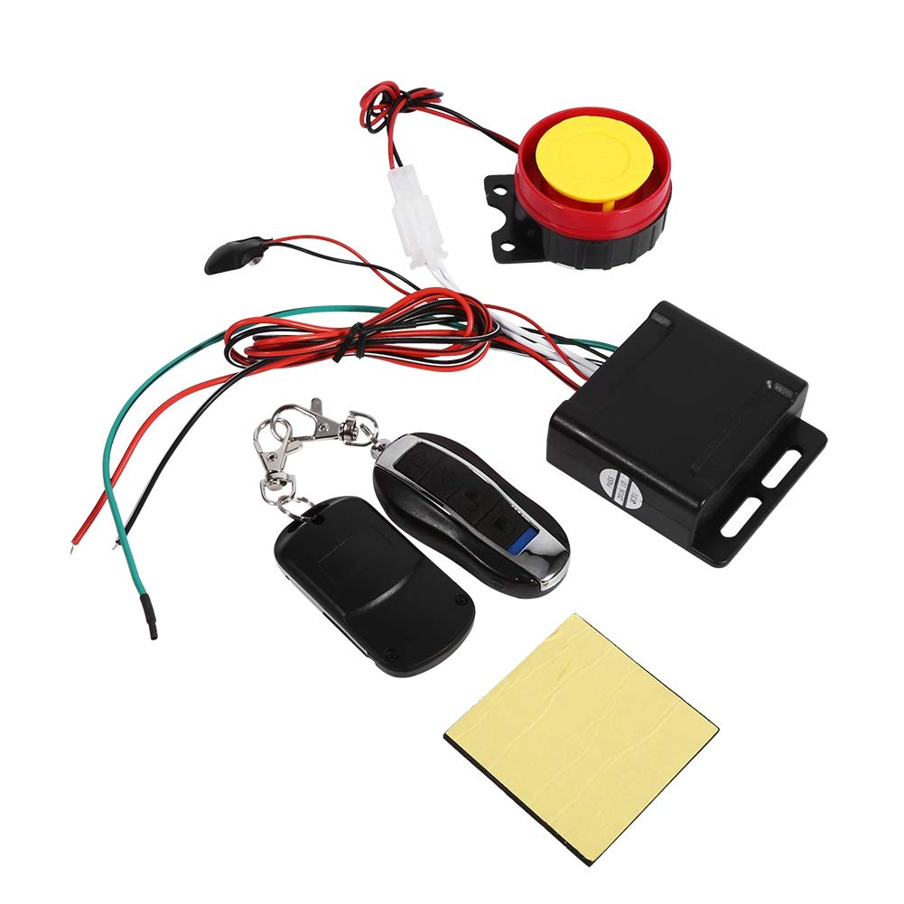 Motorcycle Anti-theft Security Alarm Car Anti-theft Security Alarm High Power Siren 125dB Super Loud Remote Control 12V for Car Vehicles Bicycle