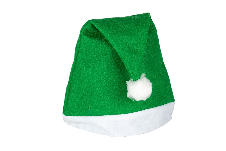 Weihnachtsmütze Nikolausmütze Grün Uni Schlicht einfach Mütze X60