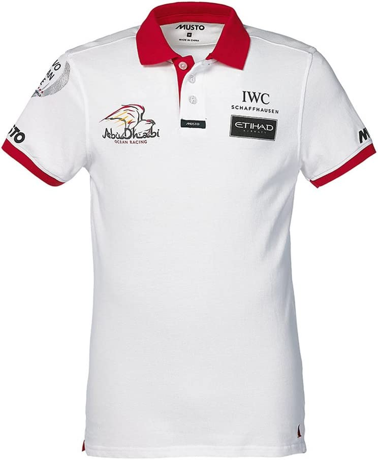 Musto Cotton Polo Abu Dhabi Ocean Racing White/Red PMP2000ADM ...
