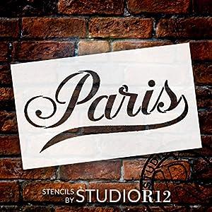 Paris - Elegant Script - Word Stencil - 12
