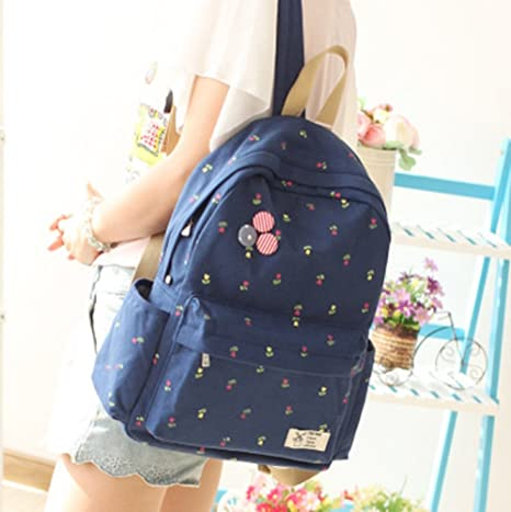 5d47825396e1 Image Unavailable. Image not available for. Color  Urmiss Teen Girls School  Bookbag Rucksack Casual Daypack Floral Backpack ...